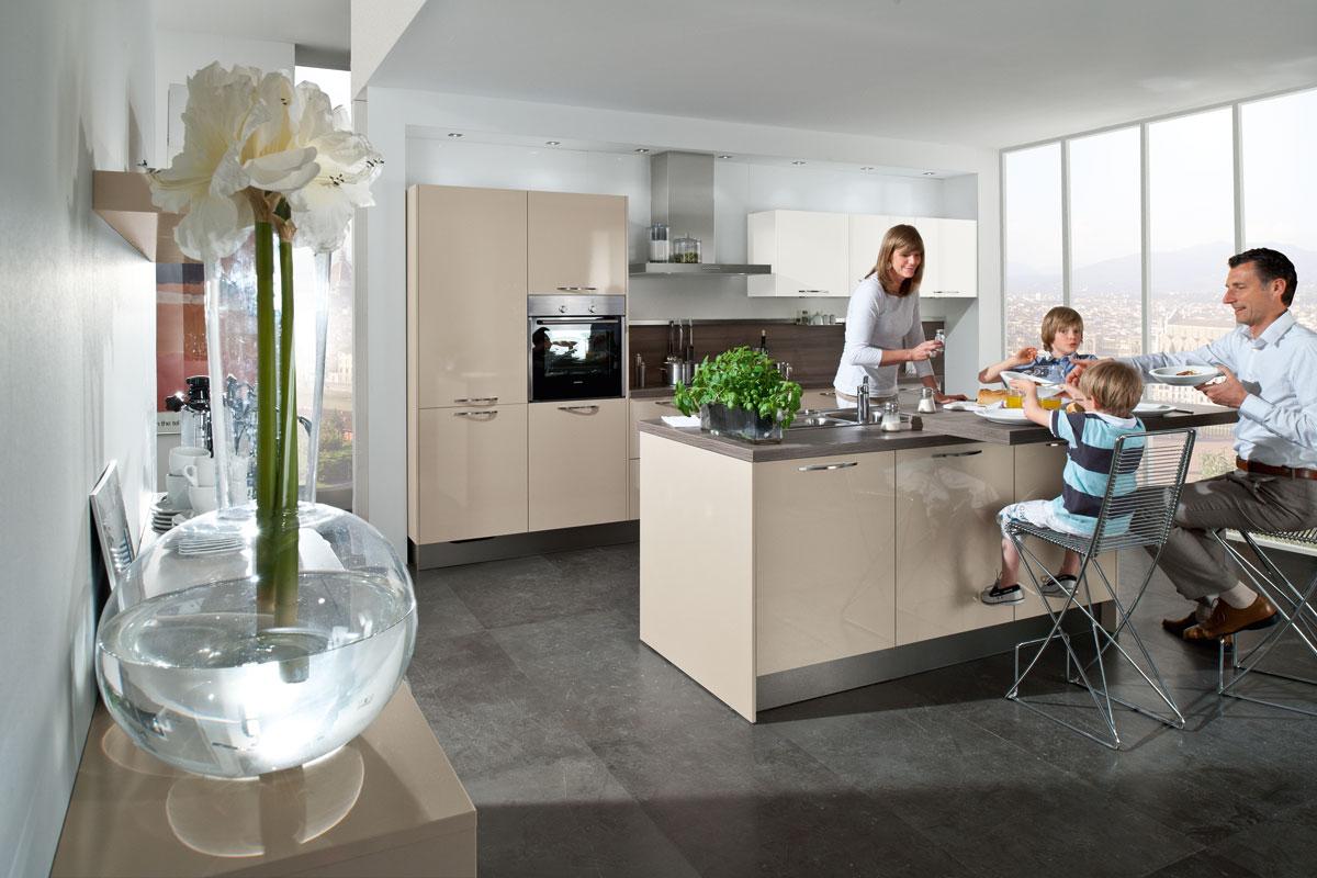 Familie in einer Küche